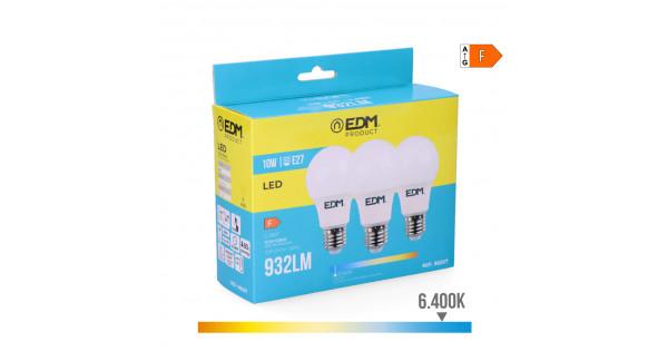10w standard 6 luz fria Kit 3 led edm bombillas e27 400k BWxQdCore